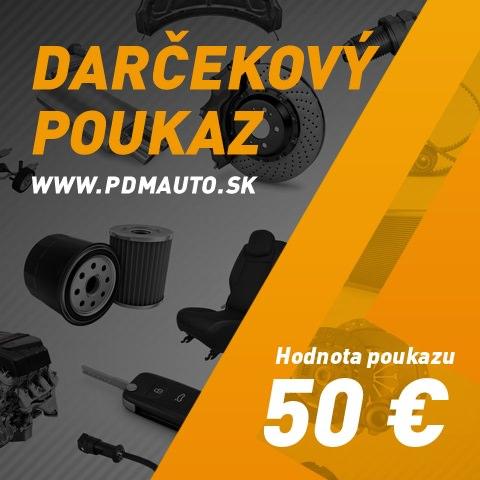Darčekový kupón PDMauto 50€
